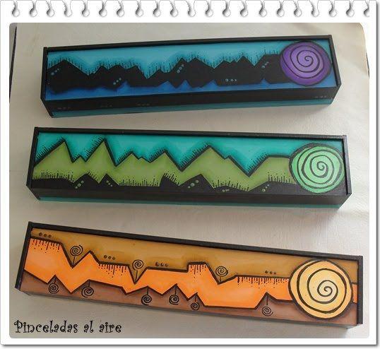 Pinceladas al aire: Caja Sahumerios