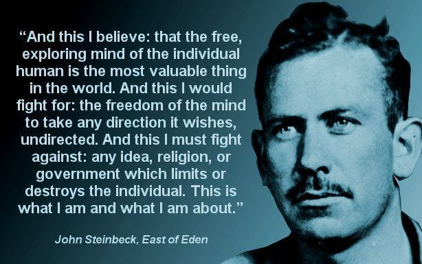 john steinbeck quotes Try to understand each othe ...