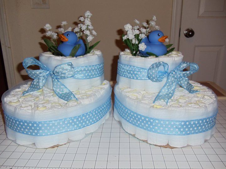 Diaper Pyramid For Baby Shower Part - 49: Boys Diaper Booties · Baby Shower ...
