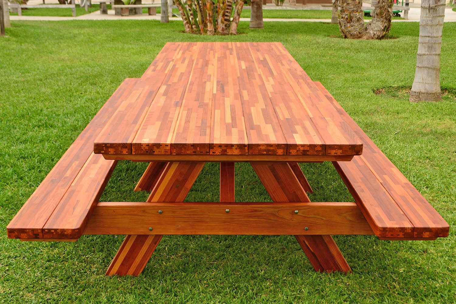 """Forever Picnic Table (Options 12' L, 40 1/4"""" W, Side"""