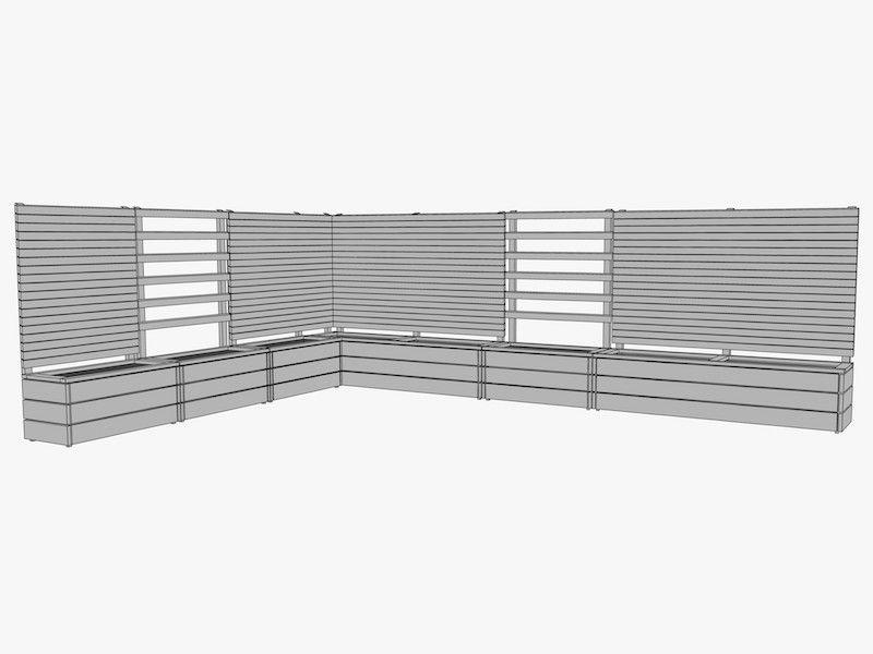 Pflanzkasten Holz Ecke mit Rankgitter / Spalier | Garten | Pinterest