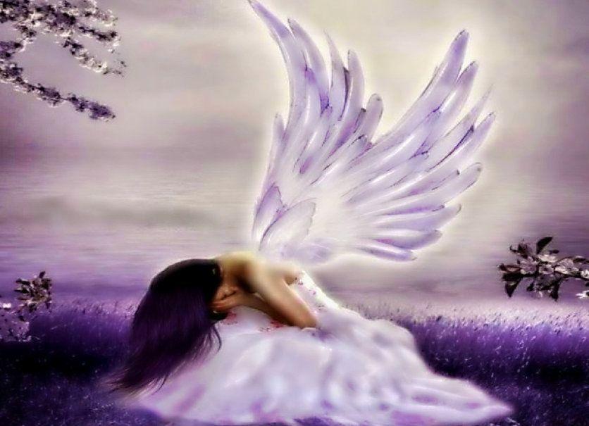 anjo chorando Vetor