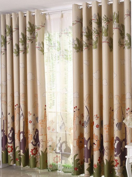 Four Colors A Pair Of Custom Curtain Panels By Hereisthe