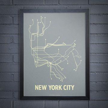 NYC Steel Blue Framed now featured on Fab.