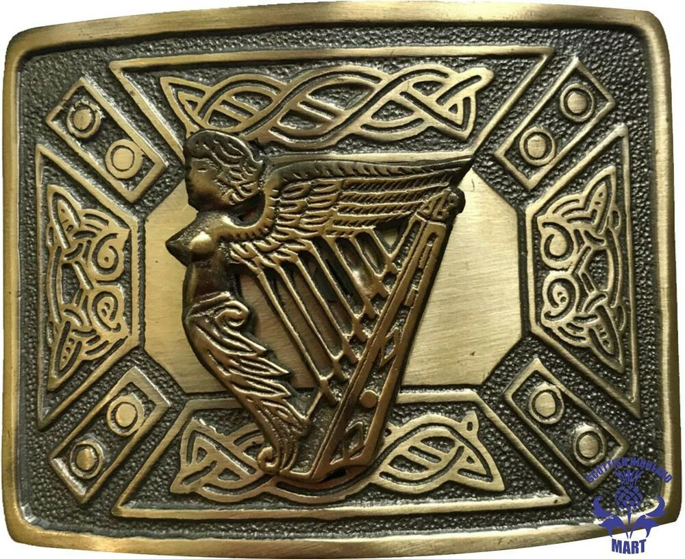 Men's Scottish Kilt Belt Buckle Various Design Antique Finish Celtic Knot Buckle