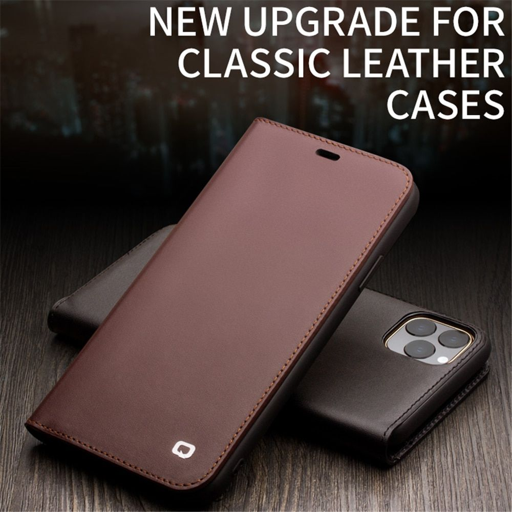 Genuine Leather Case For Iphone 12 Mini Card Slot Flip Luxury Cover For Iphone 11 Pro Xr Xs Max 7 8 Plus Se2020 In 2020 Iphone Wallet Case Flip Phone Case Iphone Cases