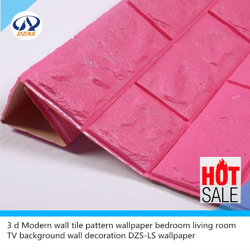 3 d Modern wall tile pattern wallpaper bedroom living room TV ...