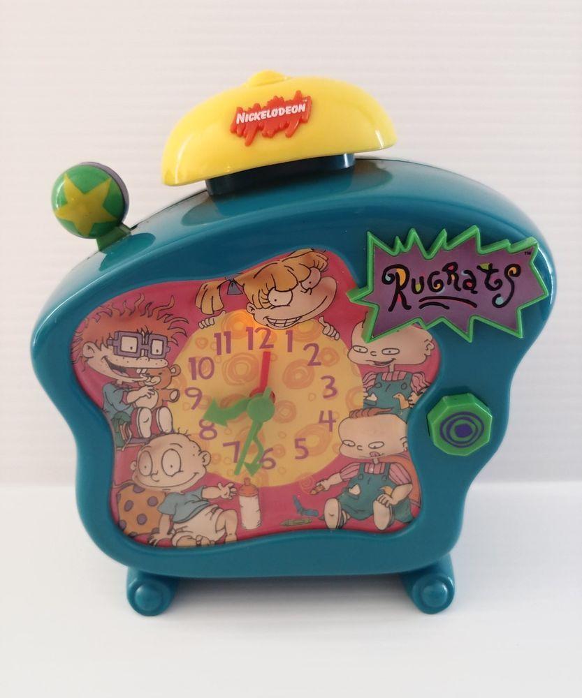 Nickelodeon Rugrats Talking Alarm Clock R1500 vintage 1998