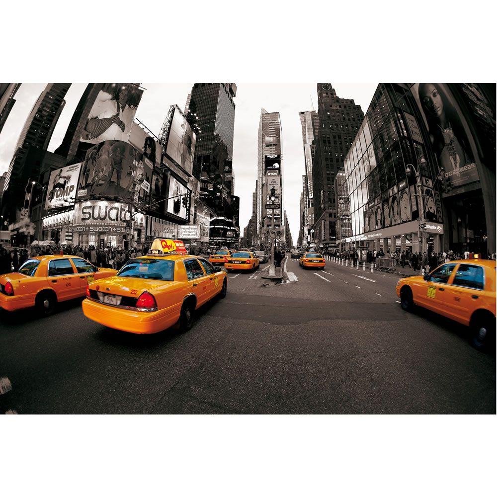 1Wall New York Cabs Wallpaper Mural Boys bedroom ideas Pinterest