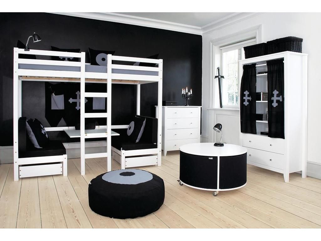 etagenbett weiss hochbett mit tisch hoppekids jumbo schlafkojen pinterest. Black Bedroom Furniture Sets. Home Design Ideas