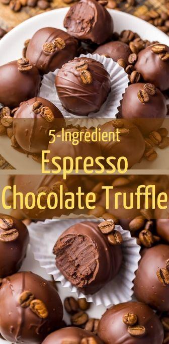 5-Ingredient Espresso Chocolate Truffle   Coffee truffles ...