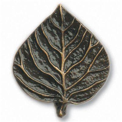 Buck Snort Lodge 174 Single Aspen Leaf Knob - Knobs and Hardware