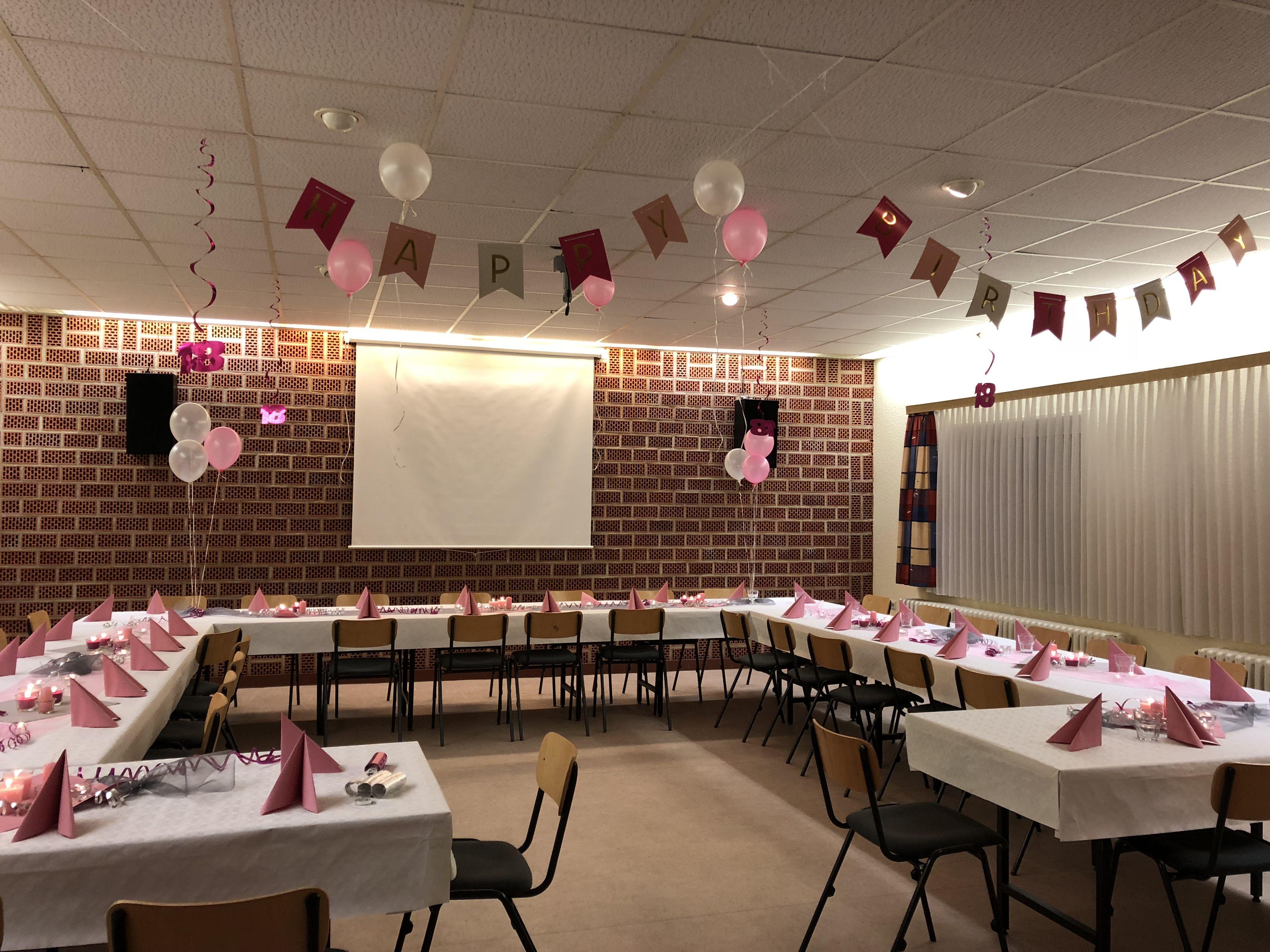 Dekoration Zum 18 Geburtstag In Rosa Und Silber Finden Sie