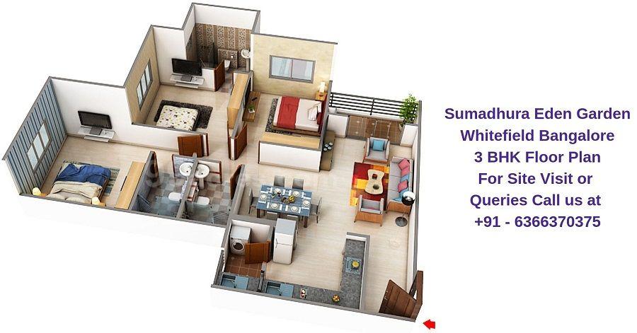 3 Bhk Floor Plan Floor Plans Whitefield Bangalore Flooring
