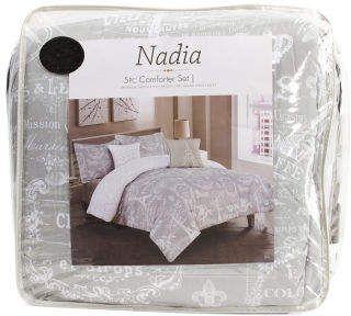 5pc Paris Nadia Printed Comforter Set Comforter Sets Comforters