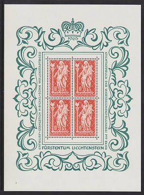 Liechtenstein Sc 395 MNH. 1965 10fr Madonna S/S of 4 VF - bidStart (item 14206117 in Stamps... Liechtenstein)