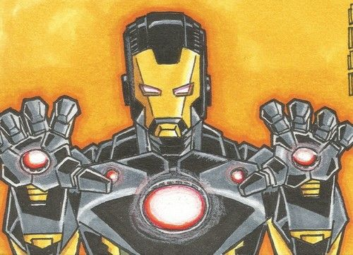Iron Man Sketch Card