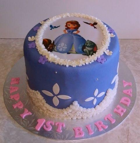 Girls Birthday CakeSofia the FirstToy dollButtercream icingCake
