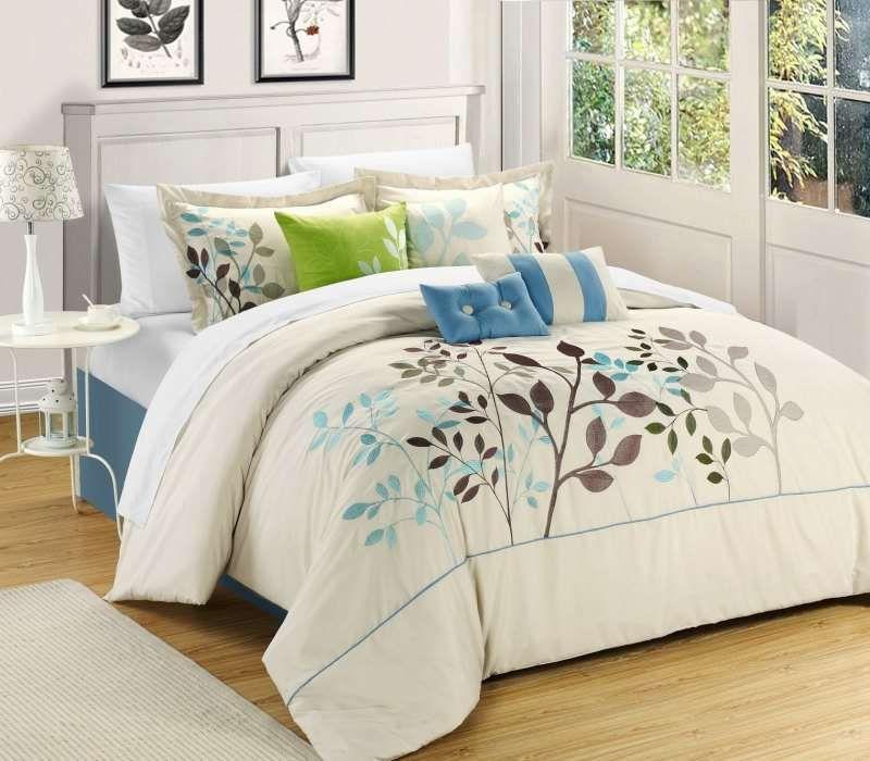 Best Bouquet Beige 12 Pc Bed In A Bag By Luxury Bedding Co 400 x 300