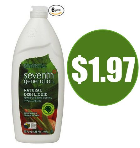 Seventh Generation Natural Dish Liquid $1.97 Shipped - http://www.swaggrabber.com/?p=297604