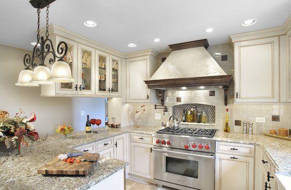 Santa Cecilia Granite Countertops White Cabinets With Light | Modern Kitchen  Design Ideas Santa Cecilia Granite Part 93