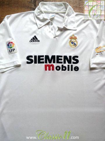 46208dd97 Relive Real Madrid s 2002 2003 La Liga season with this vintage Adidas home  football shirt.