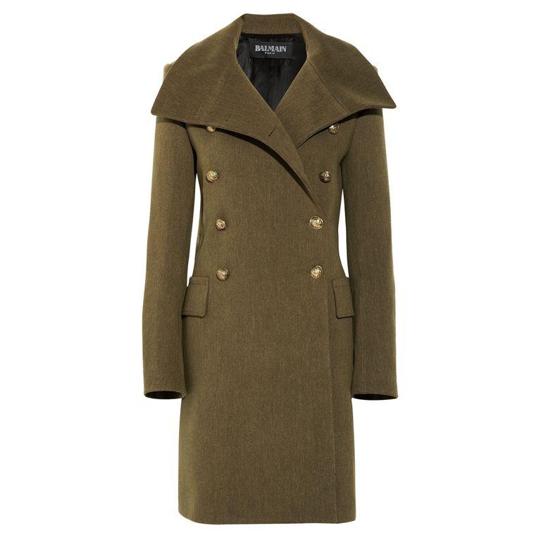 1stdibs   BALMAIN Wool Military Coat