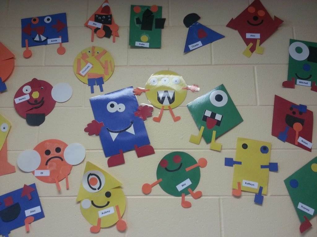 Shape Monsters (could Also Make Shape People-shape Family