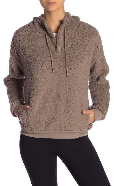 037cb95380c5 Zella Z By Rare Form Fleece Pullover Hoodie Nordstrom Rack