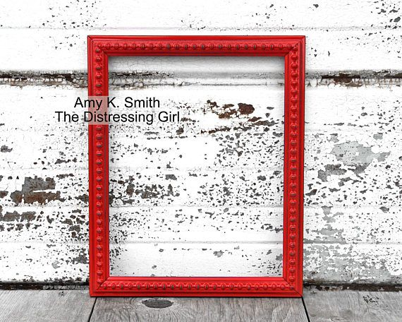 Bright Red 8 x 10 Picture Frame Fire Engine Red 8 by 10 Frame ...