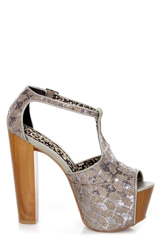 b0d1a138116 Jessica Simpson Dany Nude Suede T Strap Glitter Platform HeJessica Simpson  Dany Pewter Woven Sequin Fabric Platform Heels -  99.00
