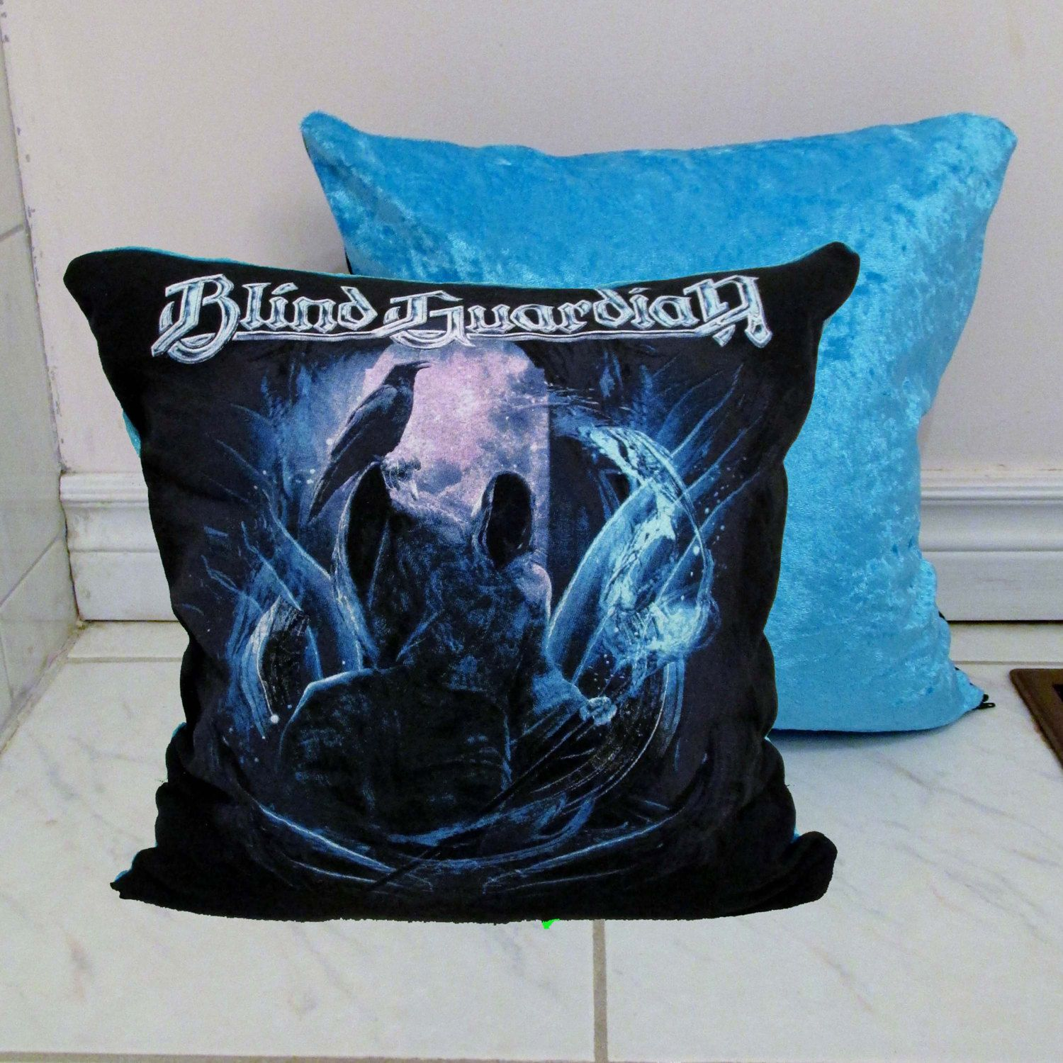 Blind Guardian Pillow Diy Metal Decor 1 Cover Only Insert Available