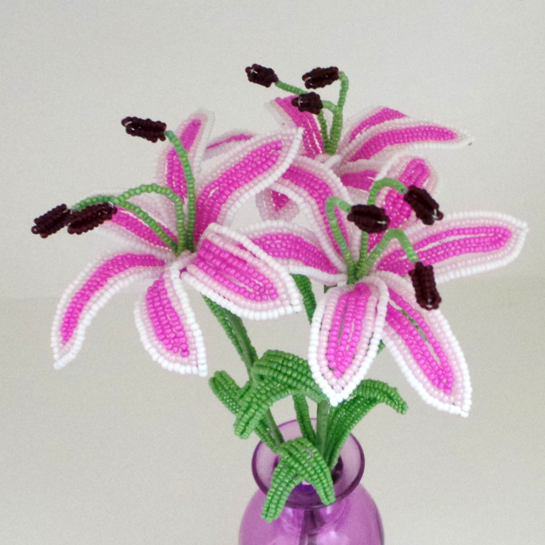 French beaded stargazer lilies french beaded and more pinterest french beaded stargazer lilies izmirmasajfo