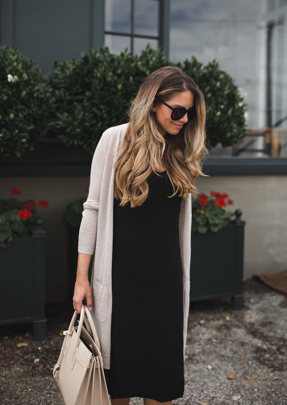 How I Style A Slip Dress The Teacher Diva A Dallas Fashion Blog Featuring Beauty Lifestyle Black Dress Outfit Casual Black Dresses Casual Fashion [ 1411 x 1000 Pixel ]