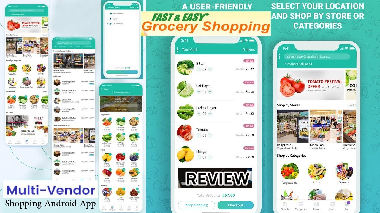 Multi Vendor Shopping Android App Grocery Store