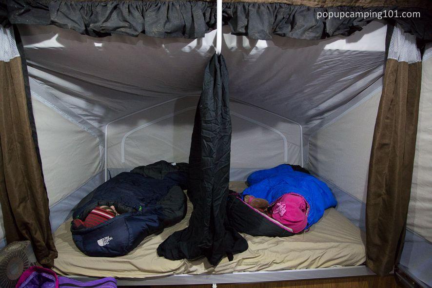 Sheet Divider For Popup Camper Bunk Popup Camper Pop Up Camper Tent Camping Beds
