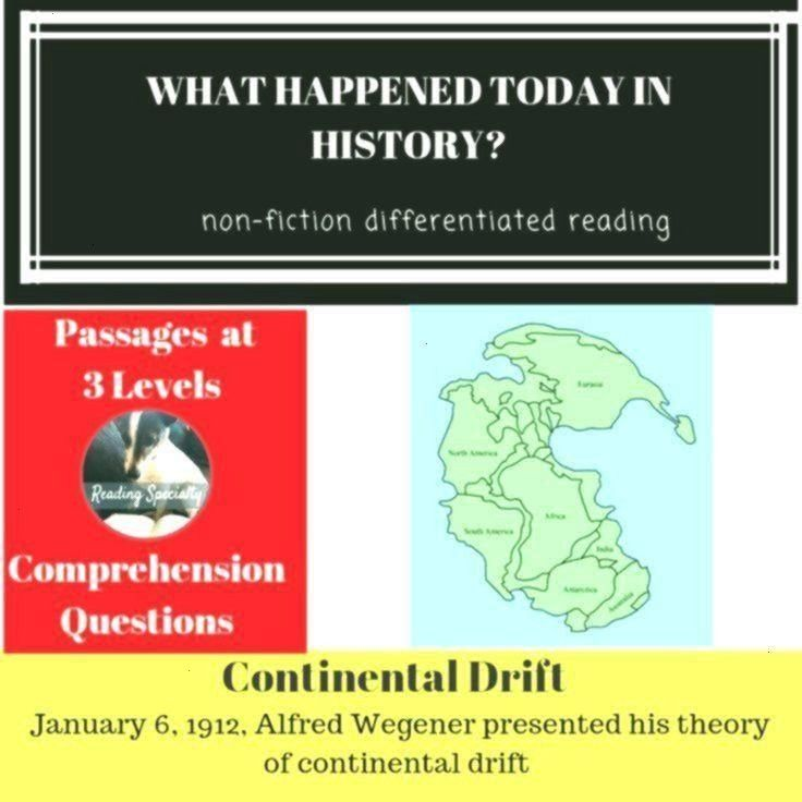 Differentiated Reading Passage January 6 Continental Drift Differentiated Reading Passage 6 Januar Continental Drift Differentiated Reading Passage January 6 Allowed to h...