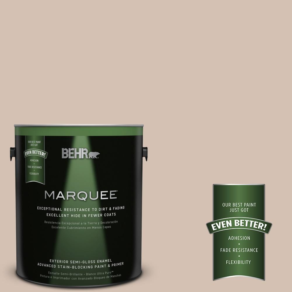 BEHR MARQUEE Home Decorators Collection 1-gal. #hdc-AC-04 Avenue Tan Semi-Gloss Enamel Exterior Paint
