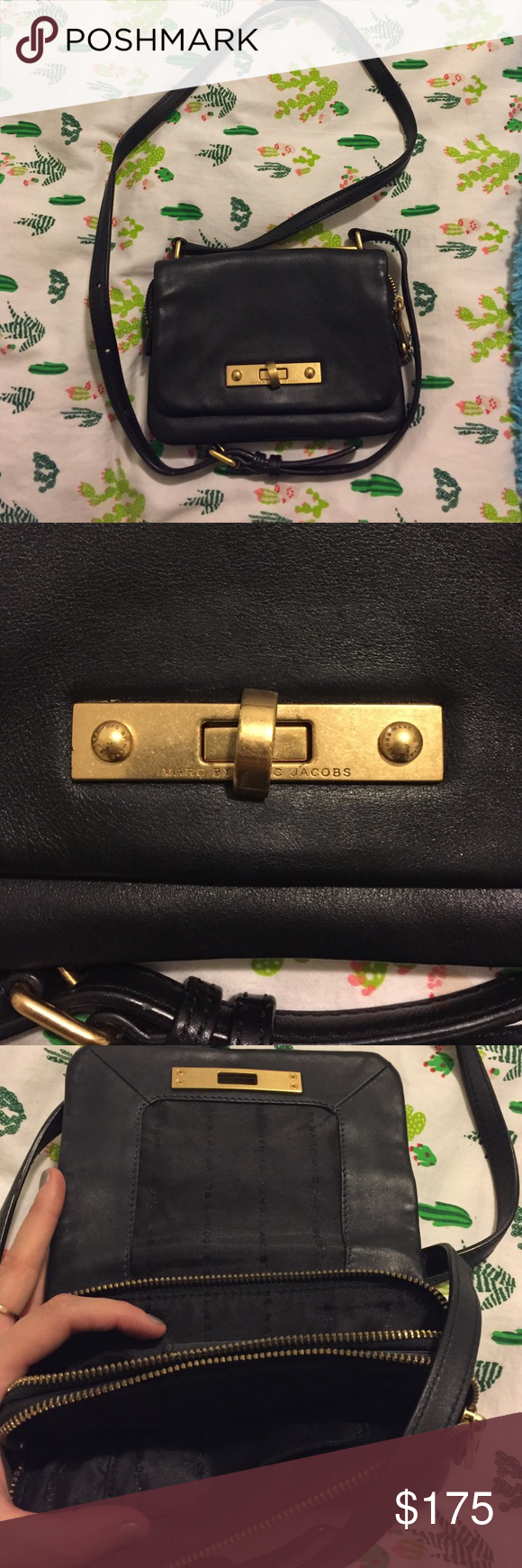 Marc by Marc Jacob crossbody black bag Great bag!! The bag has an adjustable crossbody strap. The inside has three pockets, two that zip. Make me an offer! Marc by Marc Jacobs Bags Crossbody Bags