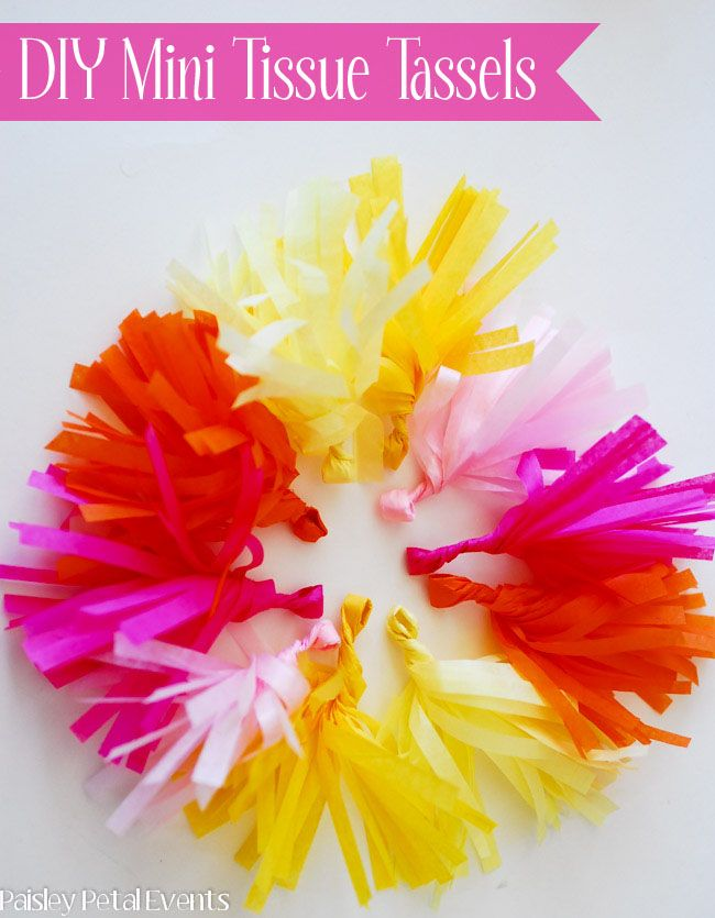 Circle Of Pretty Diy Mini Tissue Tassels Tissue Paper Flowers