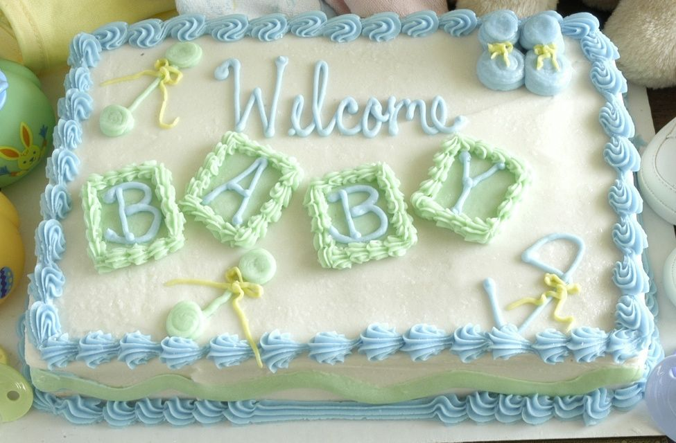 Teal U0026 Yellow Cakes   Google Search · Baby Shower Sheet ...