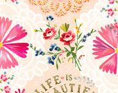 Life is Beautiful  -   vertical print