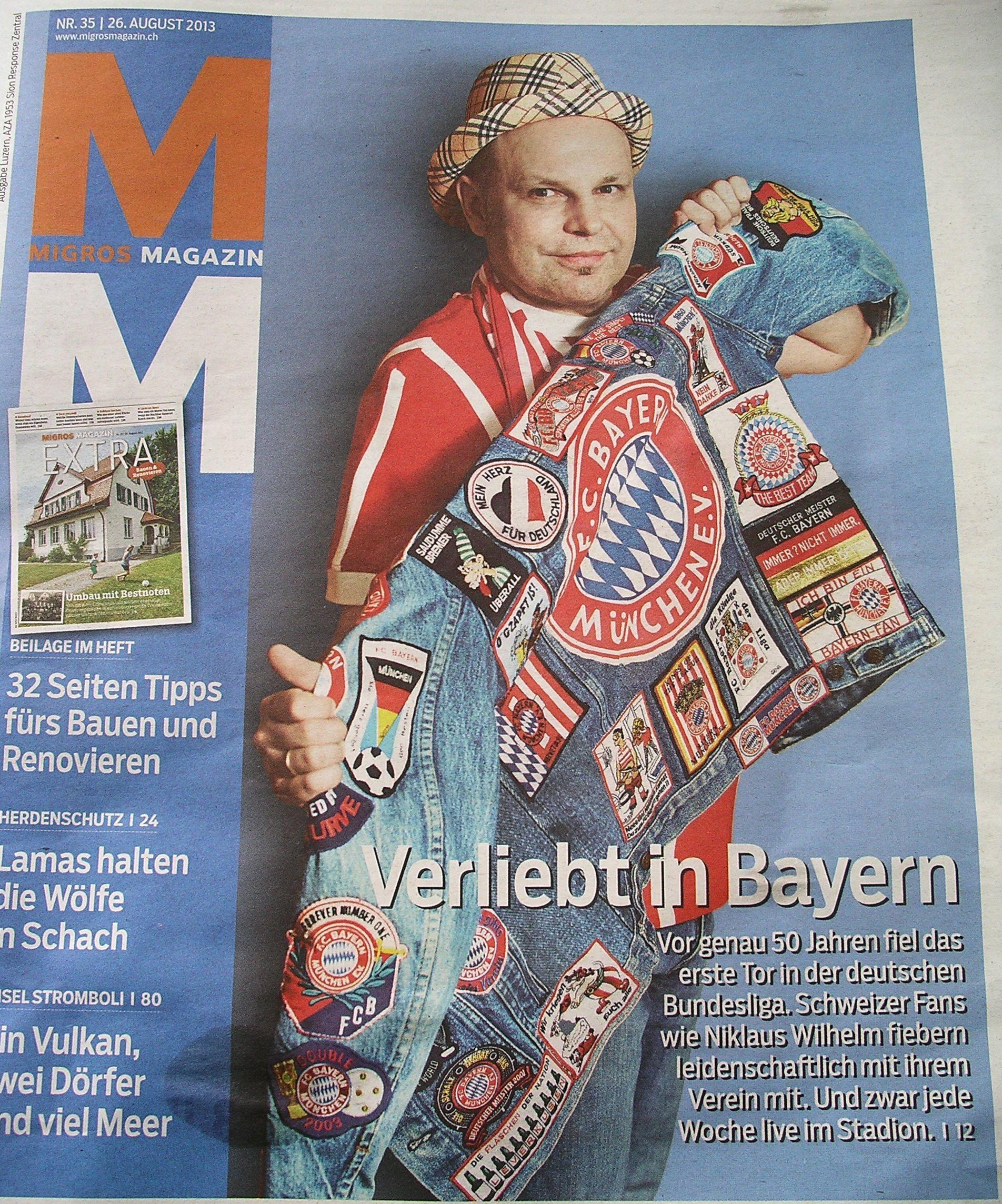 Der FC Bayern auf dem Titelblatt des MIGROS Magazin!