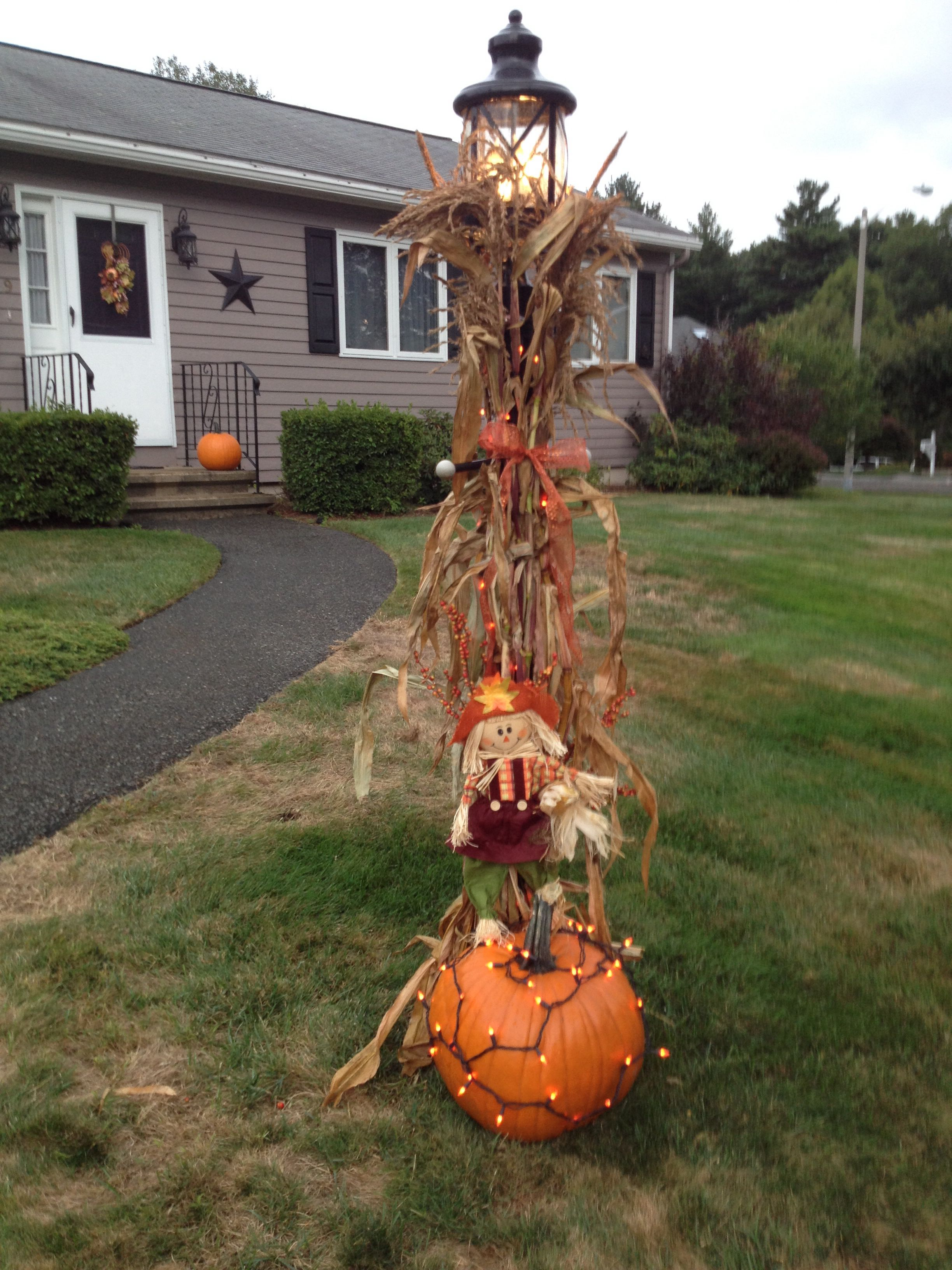 My Fall Lamp Post Outdoor Posts Decor Hy