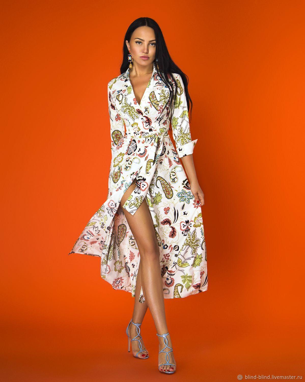 8049a25e22d Платье миди на запах 00437 - купить или заказать в интернет-магазине на Ярмарке  Мастеров