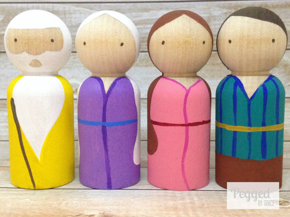 Add to your Bible Story telling opportunities with this versatile set of peg…