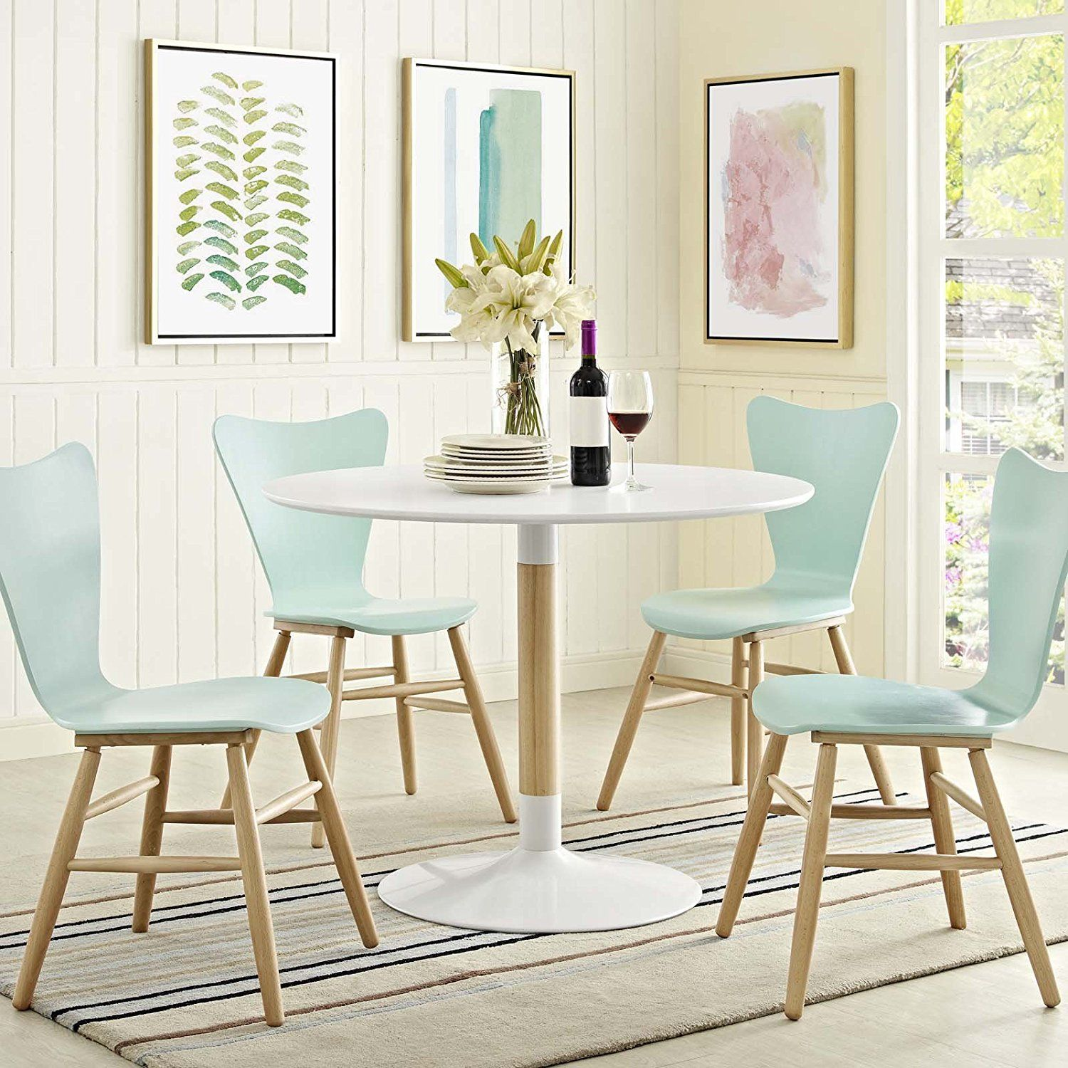 Contemporary dining table bases  HomeDecor Dining Table Chairs Wooden Legs Metal seating