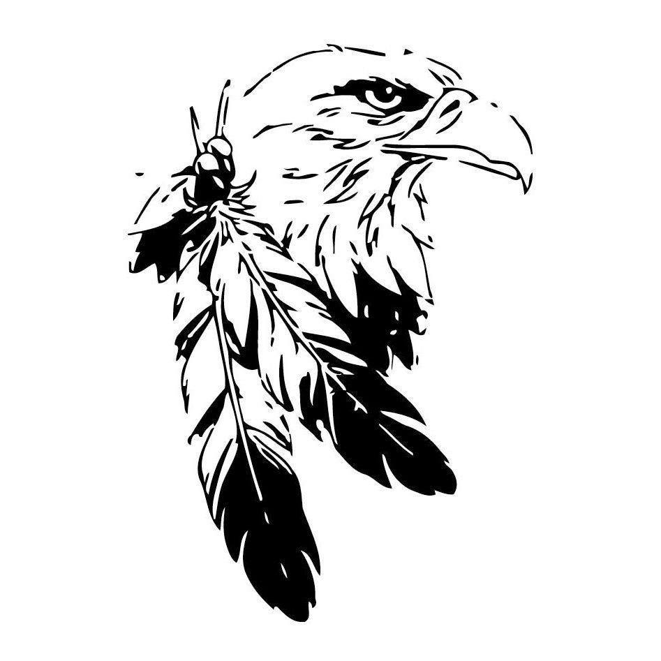Indians Eagle Head Vinyl Wall Art Products Tatouage Tatouage
