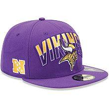 Minnesota Vikings 2013 New Era Draft Hat  9d7fd4e09e0