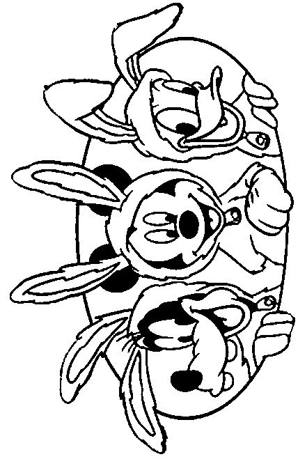 Disney Easter Coloring Pages | mickey | Pinterest